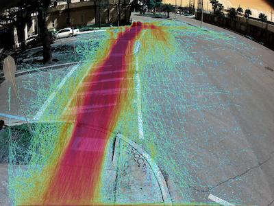 Heatmap of Pedestrians on the crosswalk