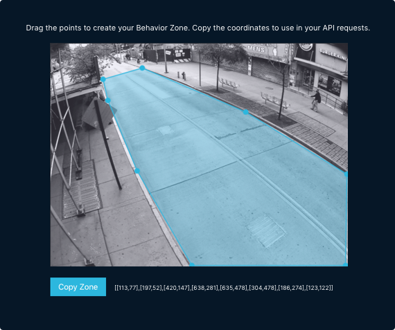 screenshot of the in-browser tool that allows you to draw behavior zones on sensor image views