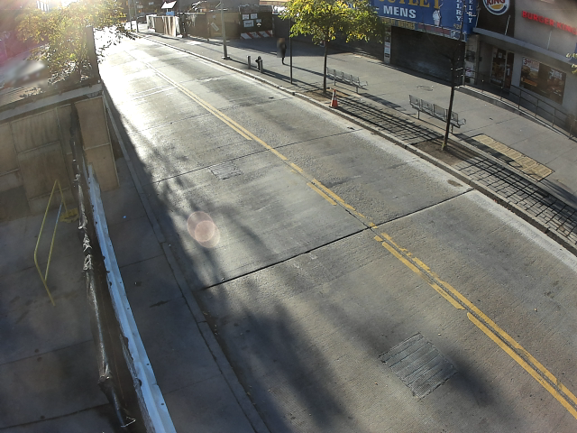sensor view of sunny street